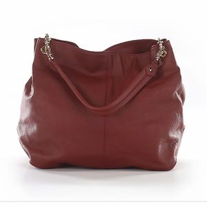 Cuore & Pelle Italian Red Leather Handbag